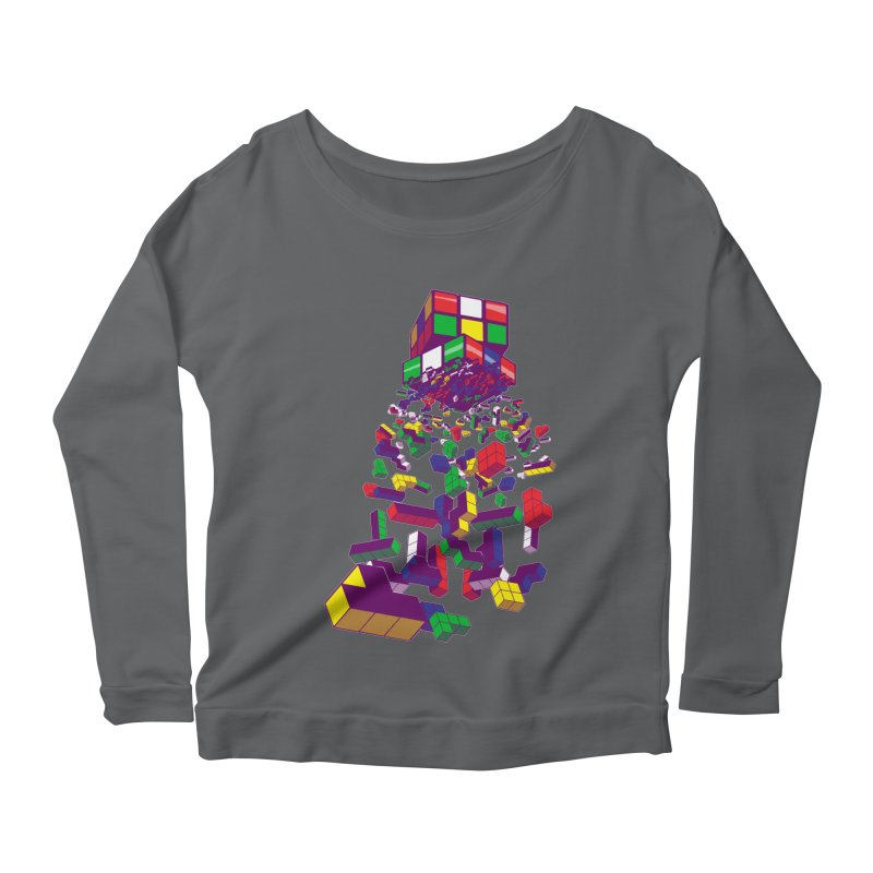 The God Cube Women's Longsleeve Scoopneck  by The Salty Studios @ Threadless