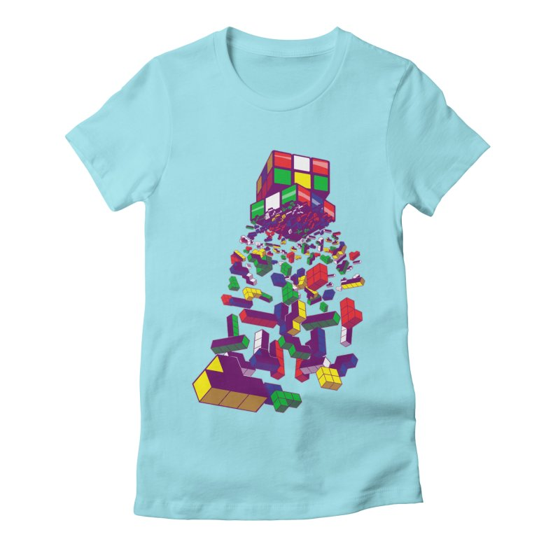 The God Cube Women's Fitted T-Shirt by The Salty Studios @ Threadless