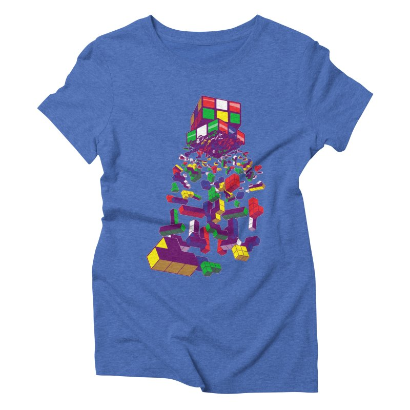 The God Cube Women's Triblend T-shirt by The Salty Studios @ Threadless