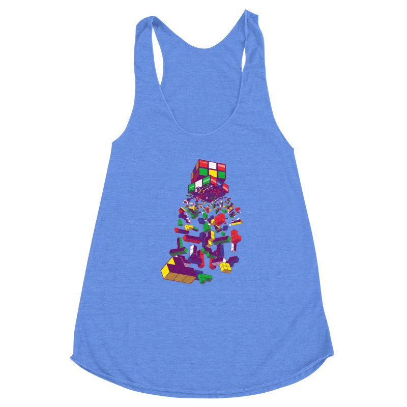 The God Cube Women's Racerback Triblend Tank by The Salty Studios @ Threadless