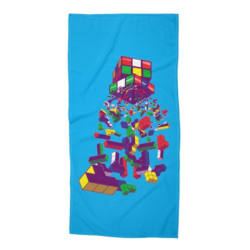 The God Cube Accessories Beach Towel by The Salty Studios @ Threadless