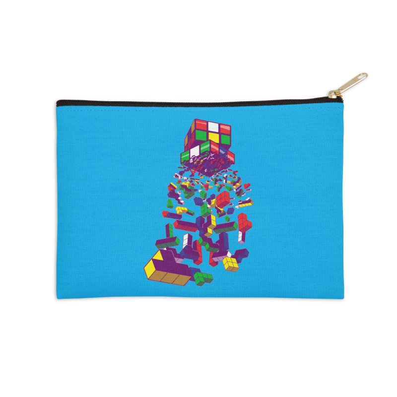 The God Cube Accessories Zip Pouch by The Salty Studios @ Threadless