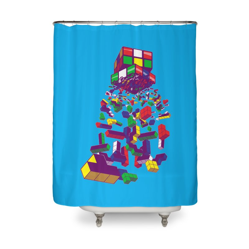 The God Cube Home Shower Curtain by The Salty Studios @ Threadless