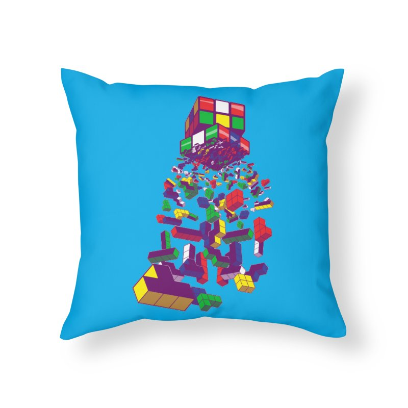 The God Cube Home Throw Pillow by The Salty Studios @ Threadless