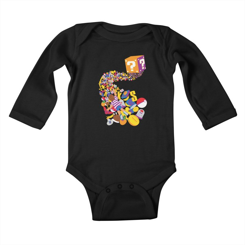 Quest for Power Kids Baby Longsleeve Bodysuit by The Salty Studios @ Threadless