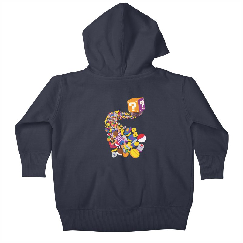 Quest for Power Kids Baby Zip-Up Hoody by The Salty Studios @ Threadless
