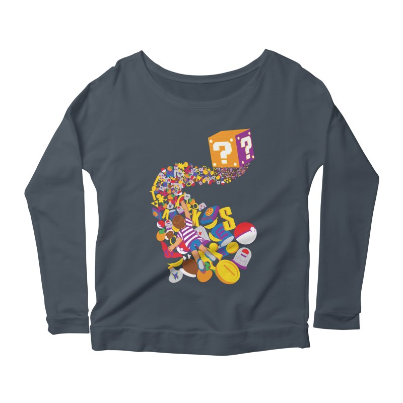 Quest for Power Women's Longsleeve Scoopneck  by The Salty Studios @ Threadless