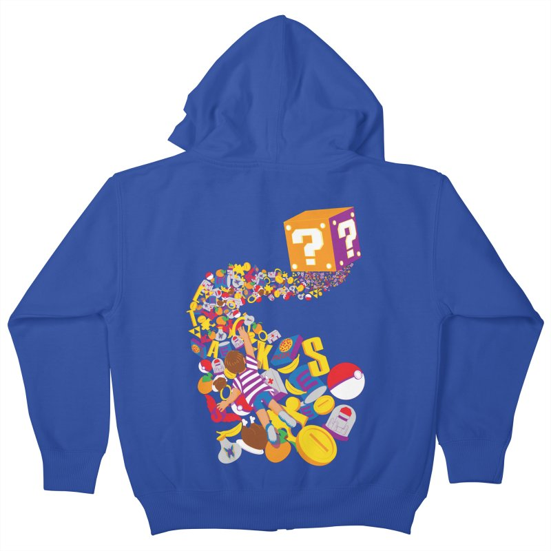 Quest for Power Kids Zip-Up Hoody by The Salty Studios @ Threadless
