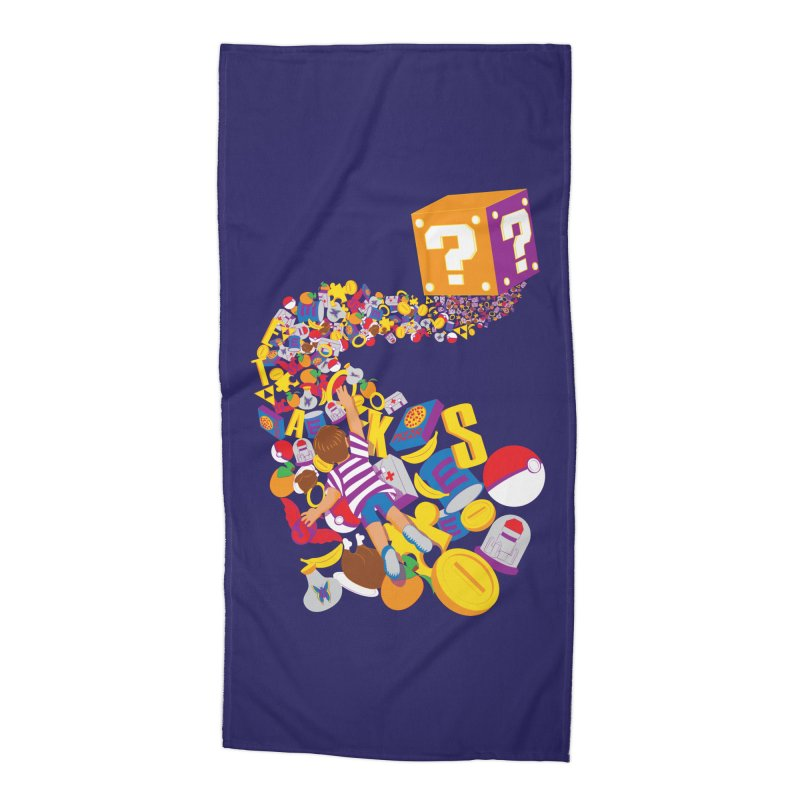 Quest for Power Accessories Beach Towel by The Salty Studios @ Threadless