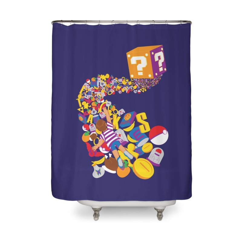 Quest for Power Home Shower Curtain by The Salty Studios @ Threadless