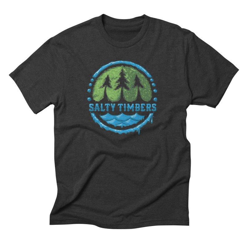 Pop Logo in Men's Triblend T-shirt Heather Onyx by