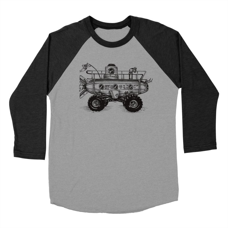 Sub in Men's Baseball Triblend T-Shirt Heather Onyx Sleeves by