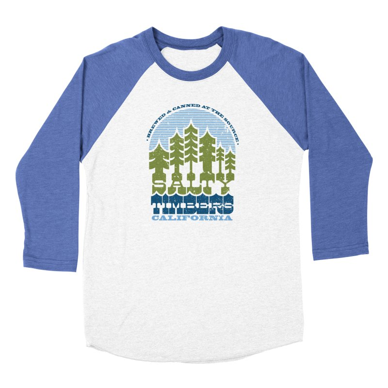 Canned in Men's Baseball Triblend T-Shirt Tri-Blue Sleeves by