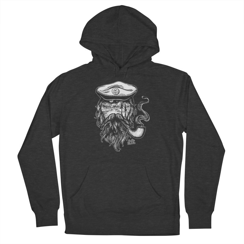 Captain (white) in Men's Pullover Hoody Smoke by