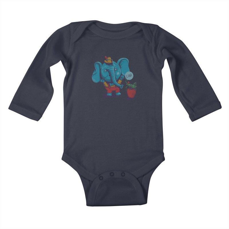 Liar Kids Baby Longsleeve Bodysuit by samalope's Artist Shop
