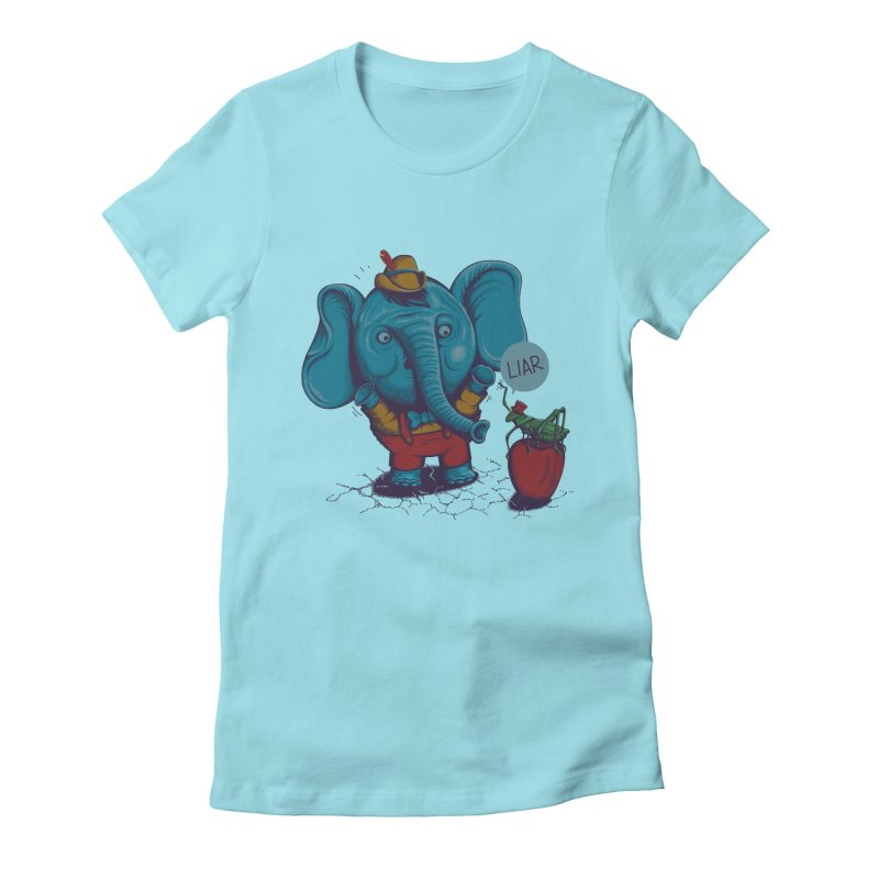 Liar Women's Fitted T-Shirt by samalope's Artist Shop