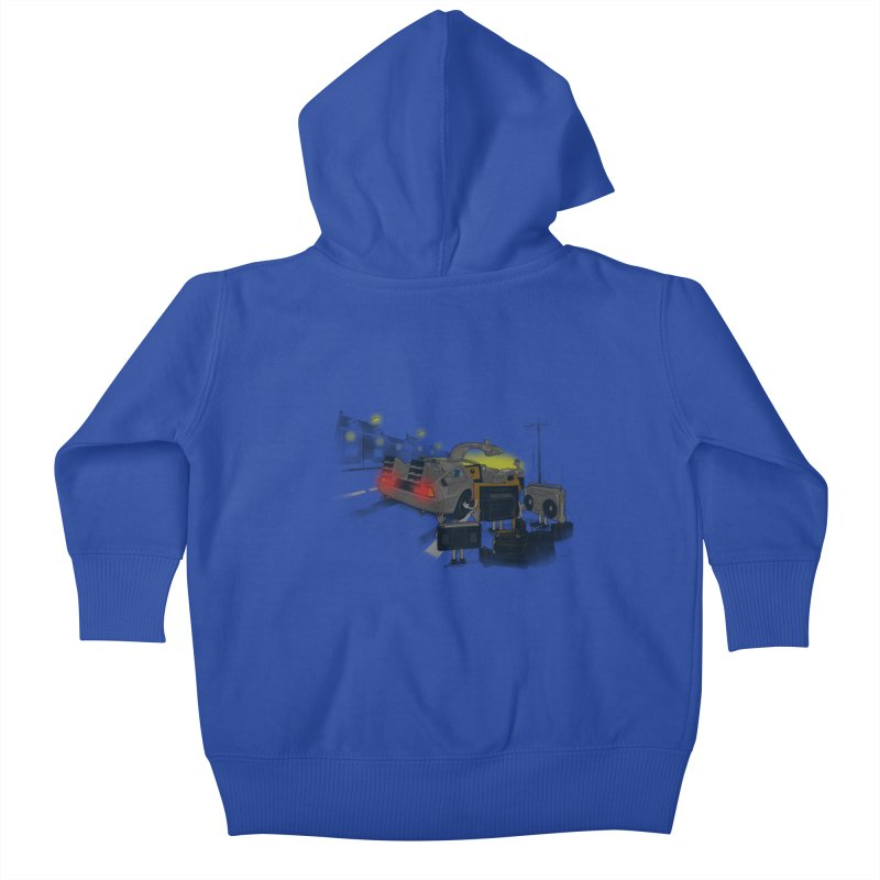 Back to Glorious Day Kids Baby Zip-Up Hoody by samalope's Artist Shop