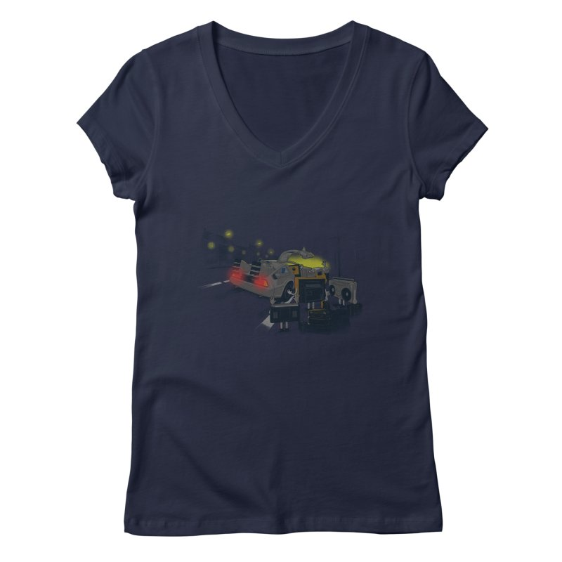 Back to Glorious Day Women's V-Neck by samalope's Artist Shop