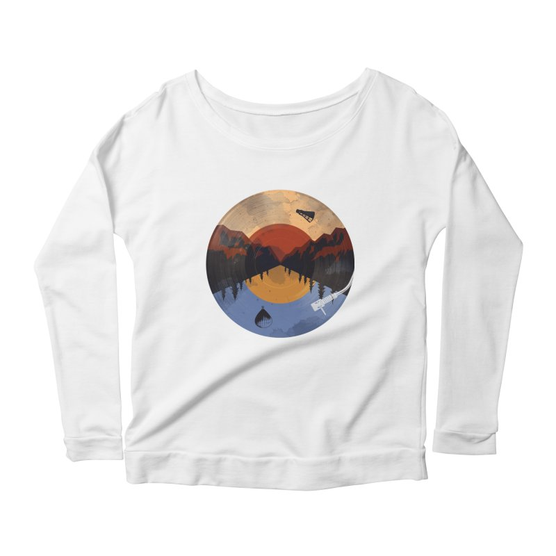 music traveler Women's Longsleeve Scoopneck  by samalope's Artist Shop
