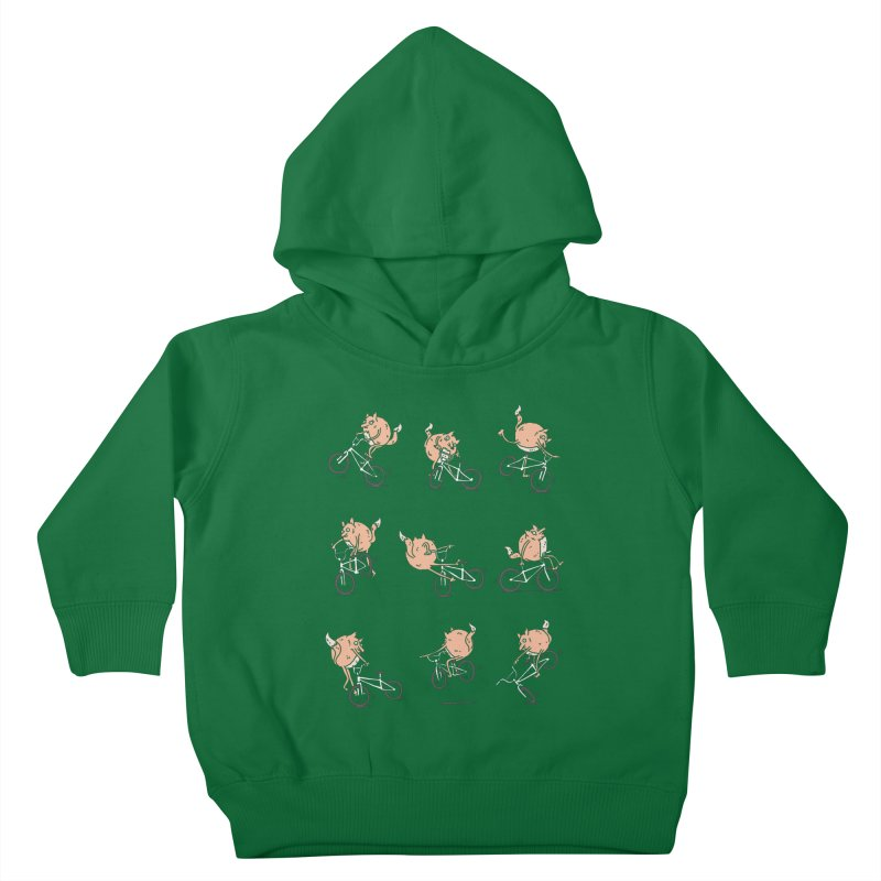 Fox Tricks Kids Toddler Pullover Hoody by samalope's Artist Shop