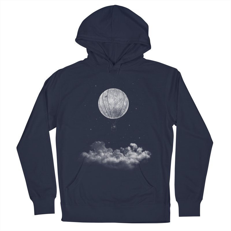 moon Traveler Men's Pullover Hoody by samalope's Artist Shop