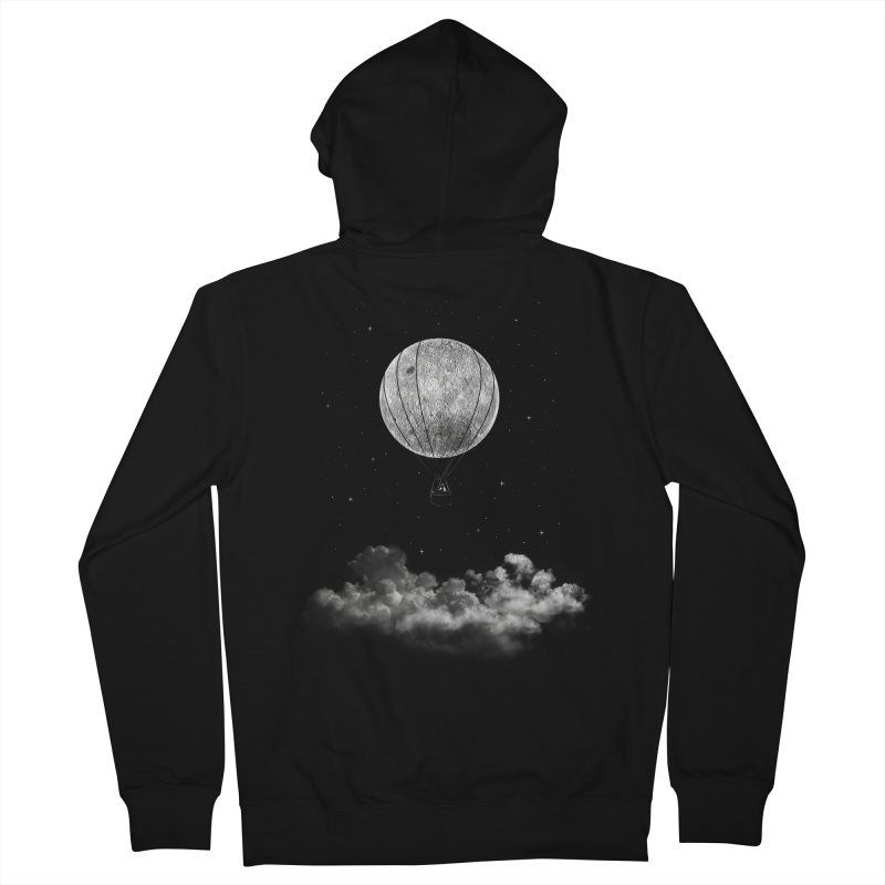 moon Traveler Women's Zip-Up Hoody by samalope's Artist Shop