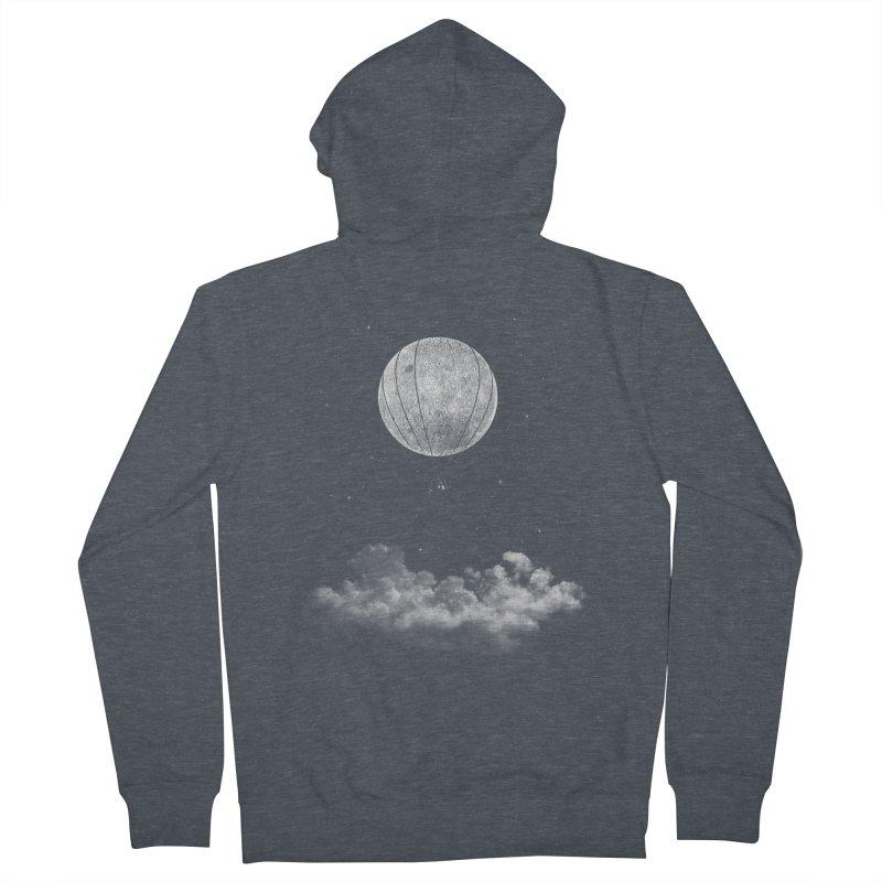 moon Traveler Men's Zip-Up Hoody by samalope's Artist Shop