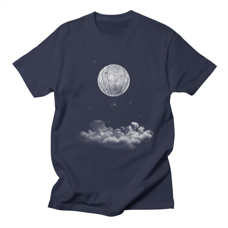 moon Traveler Men's T-Shirt by samalope's Artist Shop