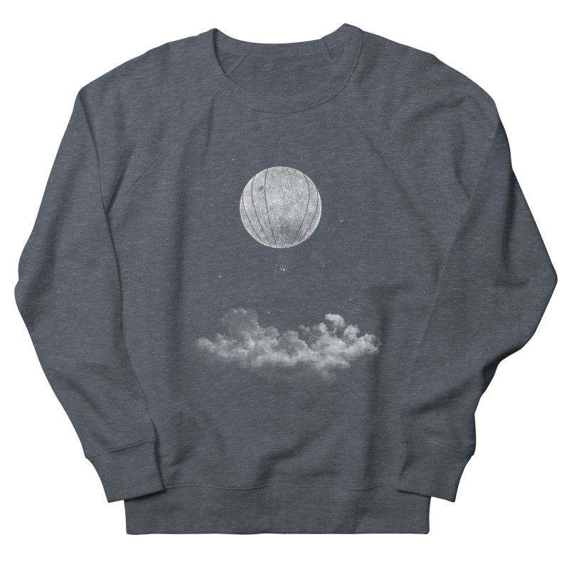 moon Traveler Men's Sweatshirt by samalope's Artist Shop
