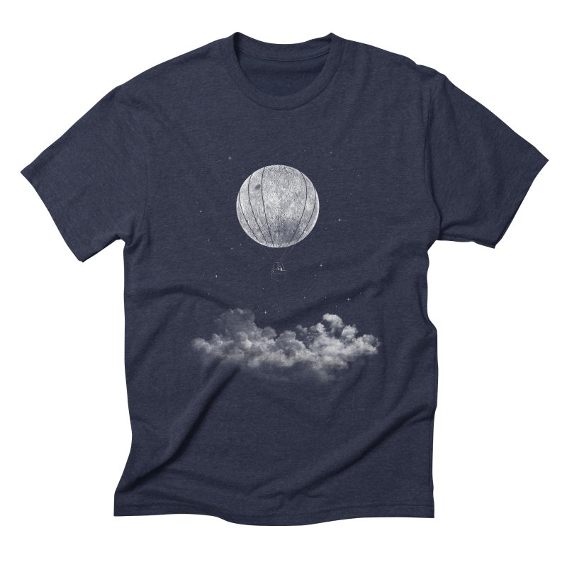 moon Traveler Men's Triblend T-Shirt by samalope's Artist Shop