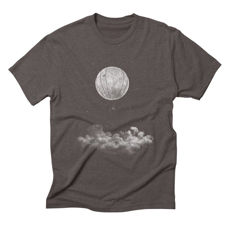 moon Traveler Men's Triblend T-Shirt by samalope's Artist Shop