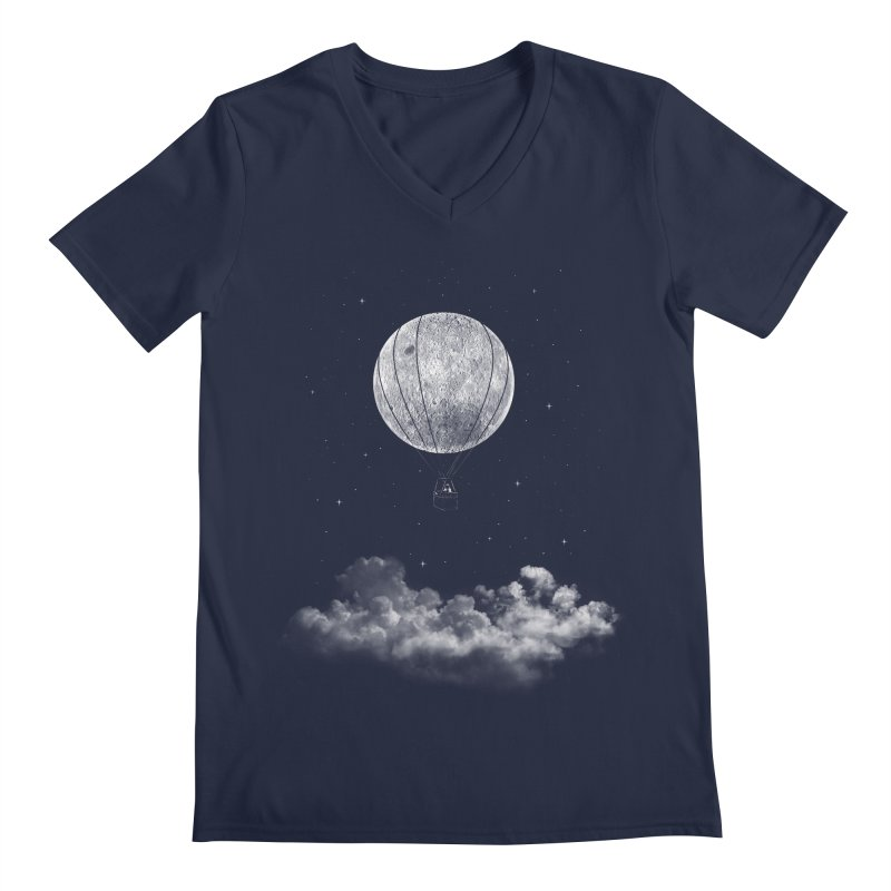 moon Traveler Men's V-Neck by samalope's Artist Shop