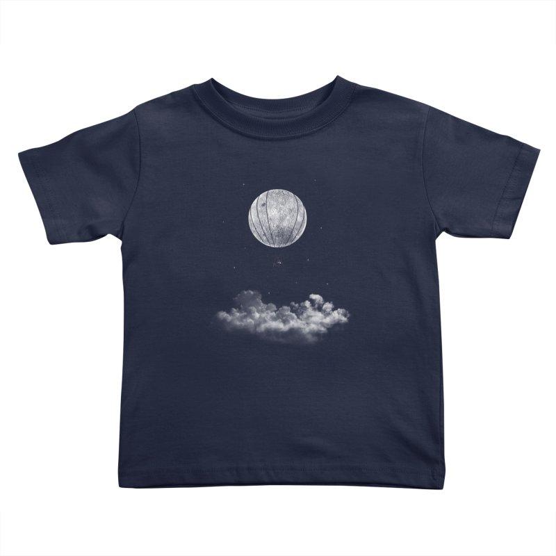 moon Traveler Kids Toddler T-Shirt by samalope's Artist Shop