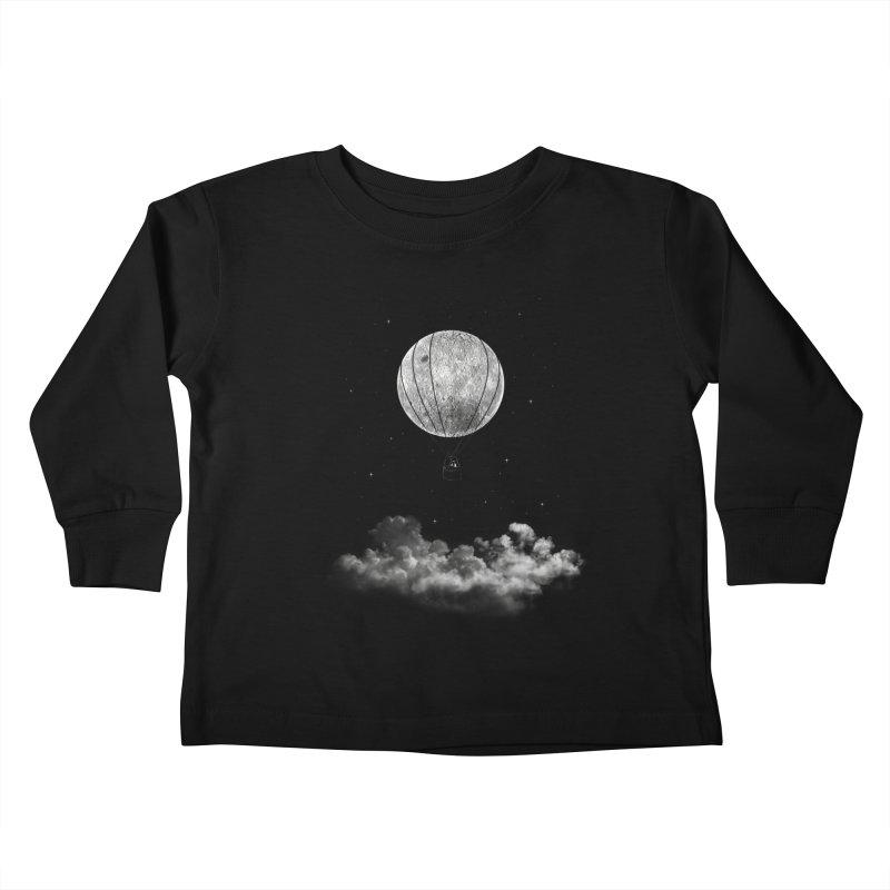 moon Traveler Kids Toddler Longsleeve T-Shirt by samalope's Artist Shop