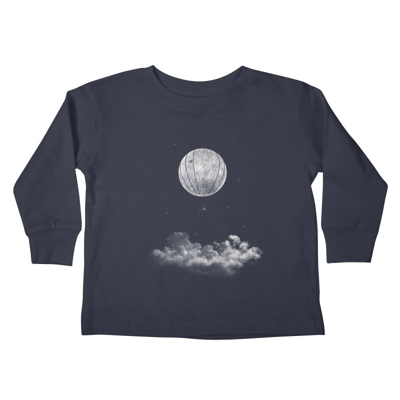 moon Traveler Kids Toddler Longsleeve T-Shirt by samalope's Artist Shop