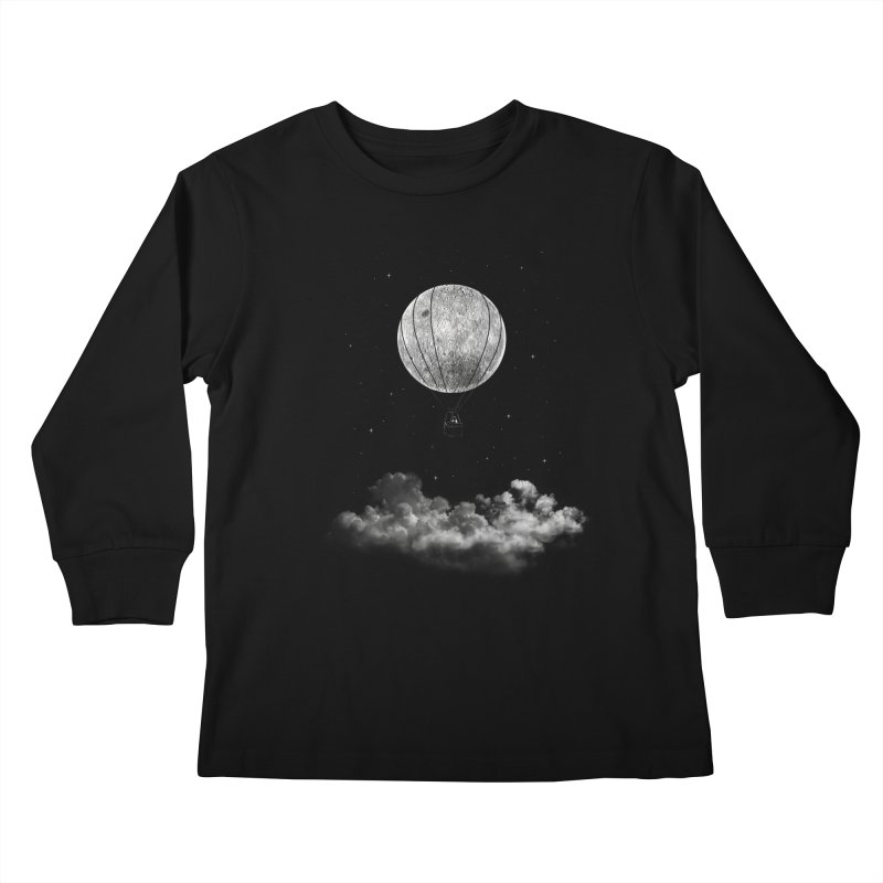 moon Traveler Kids Longsleeve T-Shirt by samalope's Artist Shop
