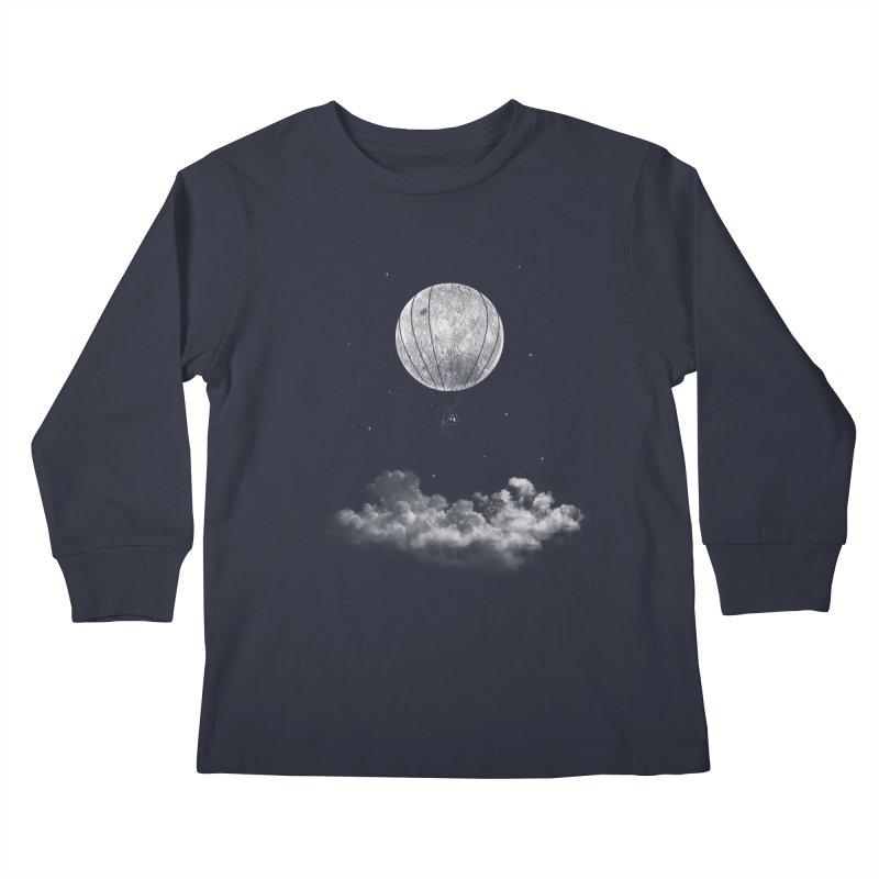 moon Traveler Kids Longsleeve T-Shirt by samalope's Artist Shop