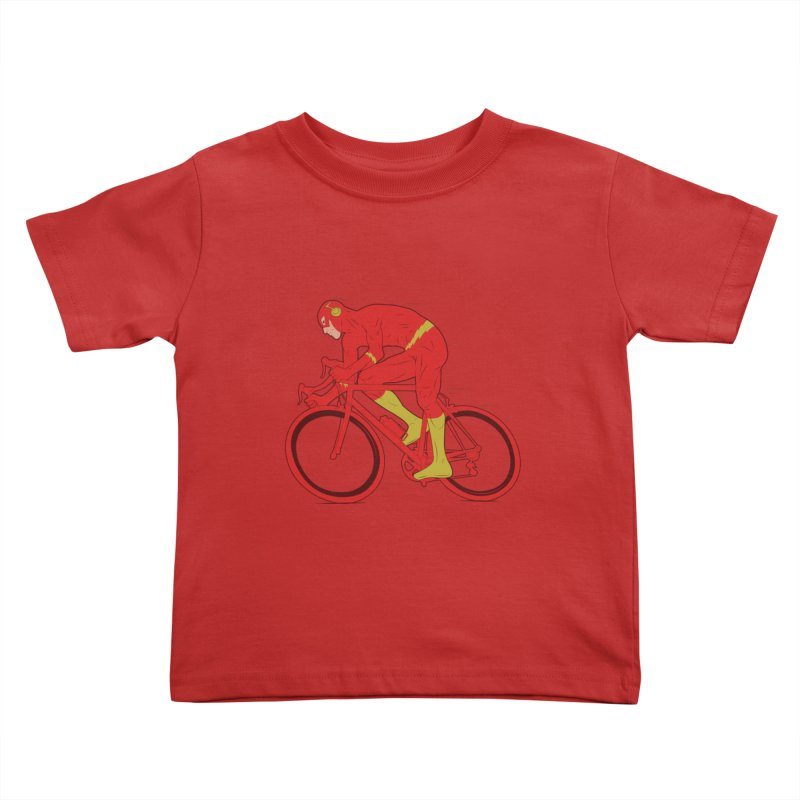 flash bike Kids Toddler T-Shirt by samalope's Artist Shop