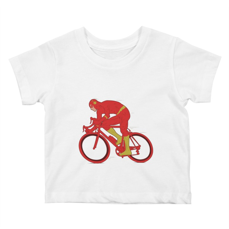 flash bike Kids Baby T-Shirt by samalope's Artist Shop