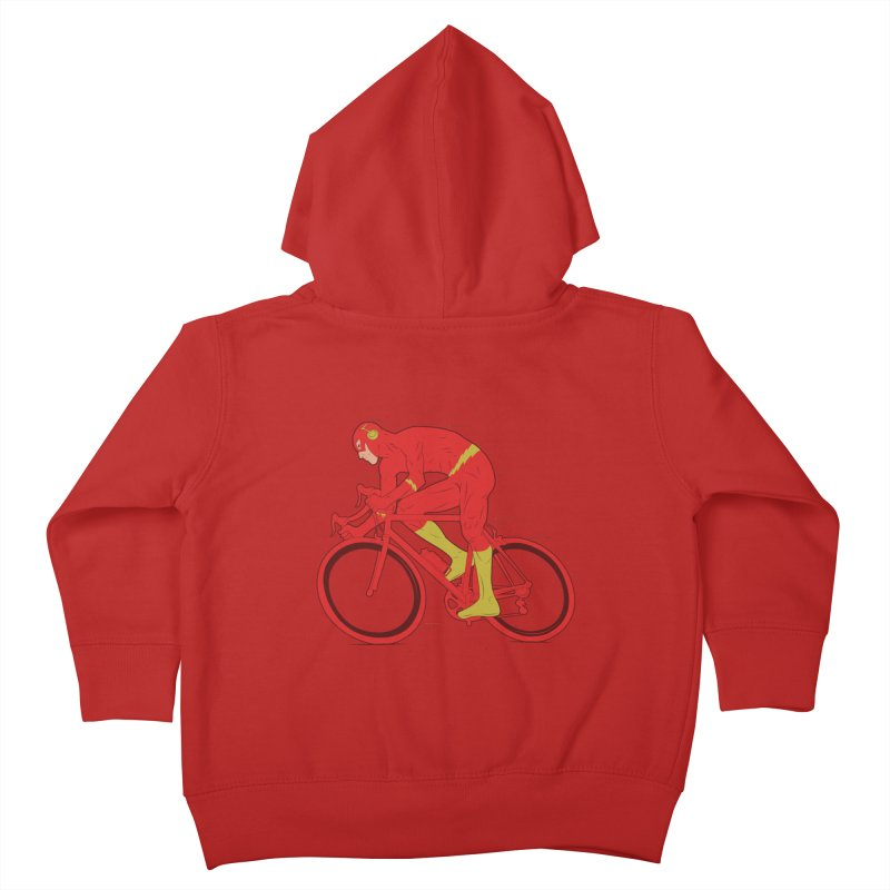 flash bike Kids Toddler Zip-Up Hoody by samalope's Artist Shop
