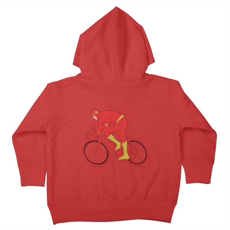 flash bike Kids Toddler Zip-Up Hoody by samalope's Artist Shop