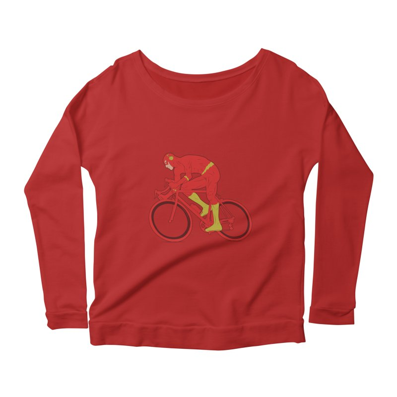 flash bike Women's Longsleeve Scoopneck  by samalope's Artist Shop