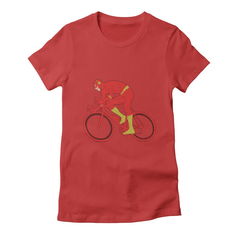 flash bike Women's Fitted T-Shirt by samalope's Artist Shop
