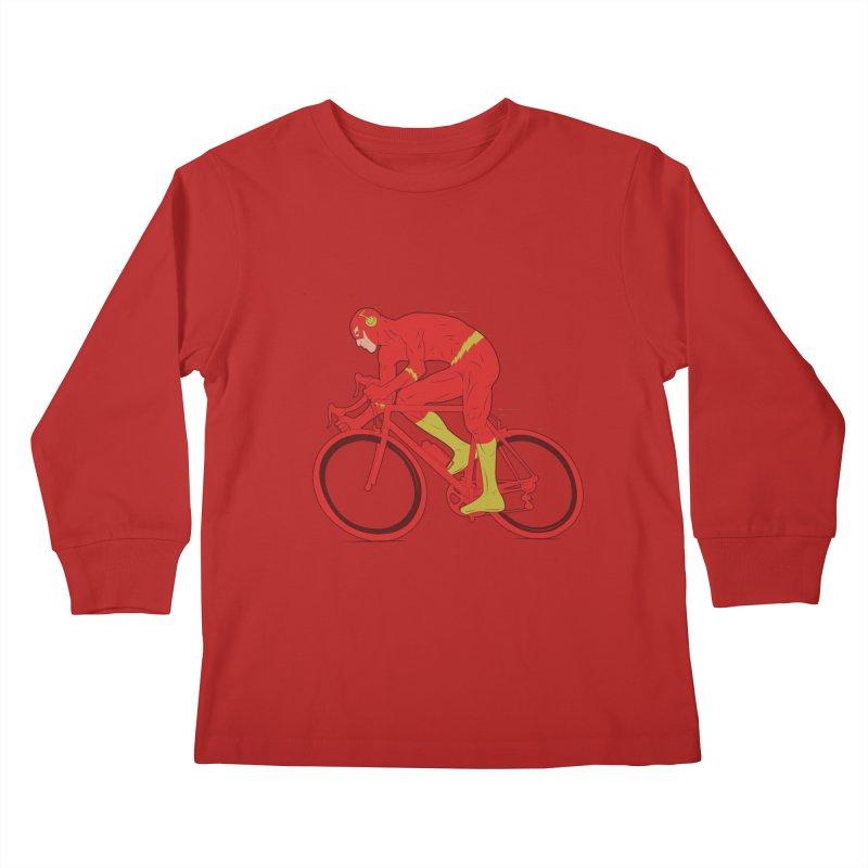 flash bike Kids Longsleeve T-Shirt by samalope's Artist Shop