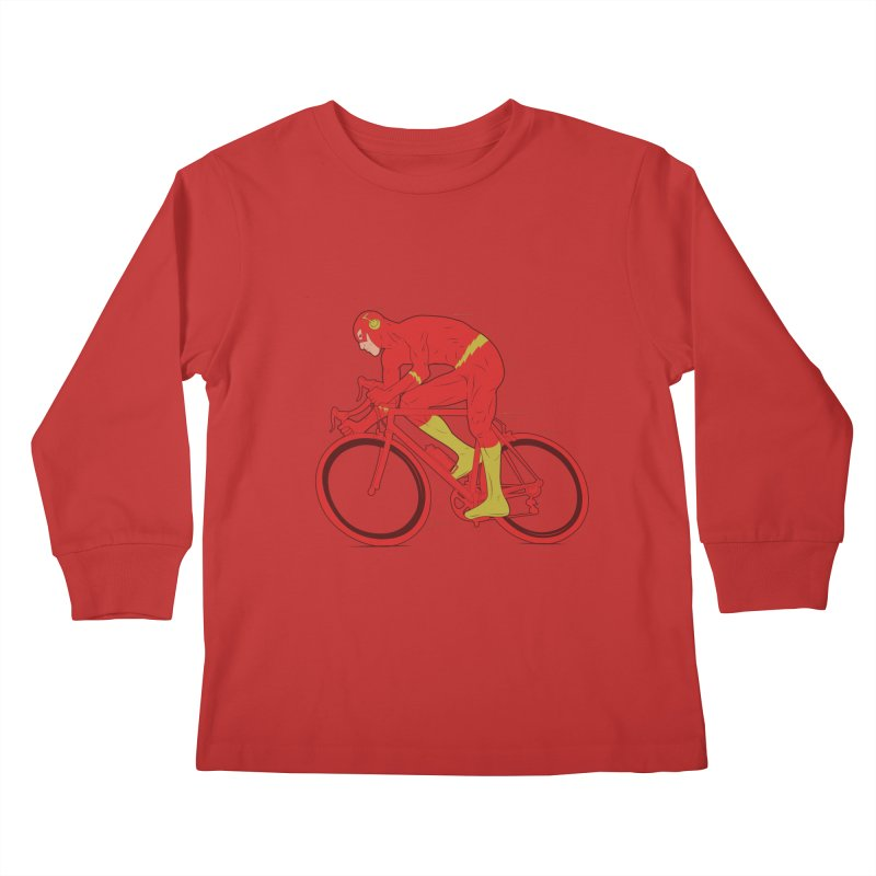 flash bike Kids Longsleeve T-Shirt by samalope's Artist Shop