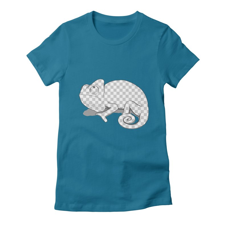 transparant mode on Women's Fitted T-Shirt by samalope's Artist Shop
