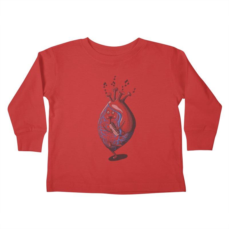 rhythm of my heart Kids Toddler Longsleeve T-Shirt by samalope's Artist Shop
