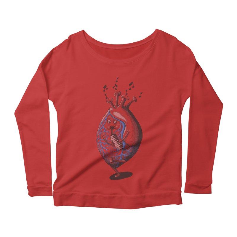 rhythm of my heart Women's Longsleeve Scoopneck  by samalope's Artist Shop