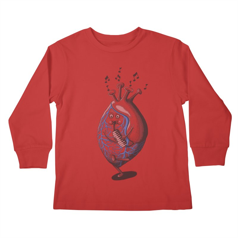 rhythm of my heart Kids Longsleeve T-Shirt by samalope's Artist Shop