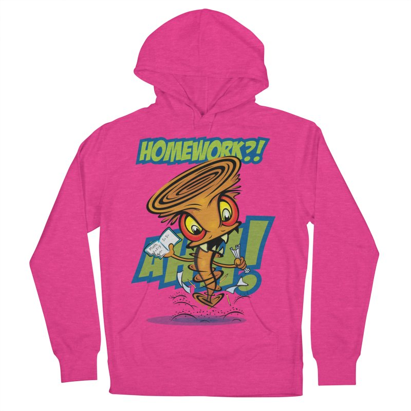 Homework Twister Women's French Terry Pullover Hoody by Samalou - The Art and Illustrations of Lou Simeone